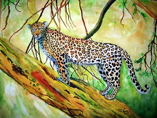 "''Leopard""-watercolor 