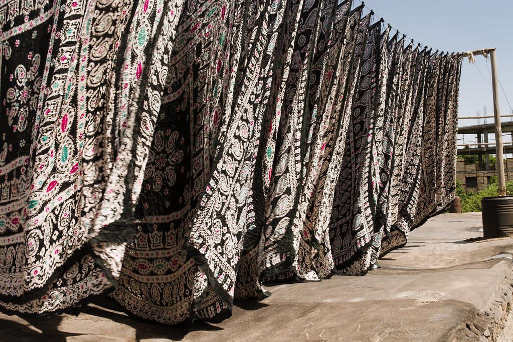 scarf printing production in iran | Nicolas Petit | Flickr