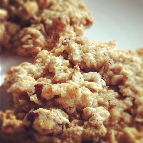 Vegan oatmeal cookie recipe. Makes 3 cookies | by The 10 cent designer