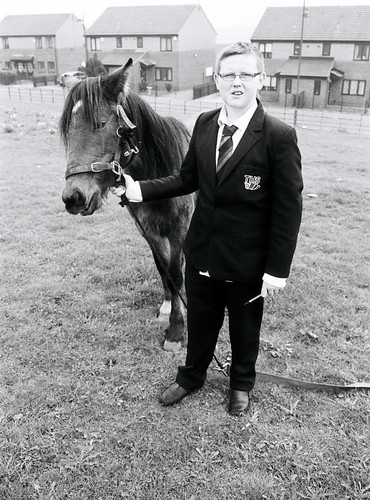 05 Boy with horse, Holme Wood, Bradford | by I ♥ Minox