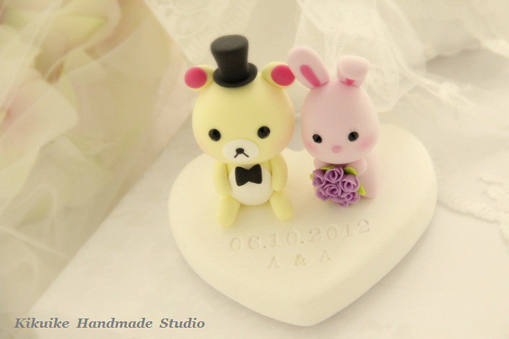 Wedding Cake Topper-love bear and rabbit | www.etsy.com/list… | Flickr
