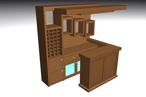 Dise o 3d de bar a pedido mueble hecho completamente a la flickr - Muebles bar diseno ...