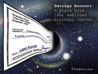Savings Account: A Black Hole That Swallows Birthday Checks | by FamZoo