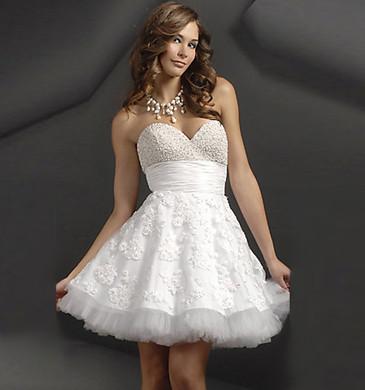 White Elegant Cocktail Dresses