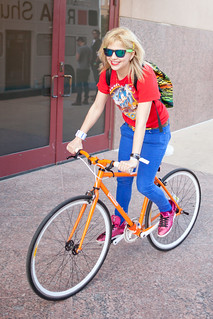 Bikes are definitely the best way to get around downtown Austin during SXSW. Bonus points for the retro locals-only Gowalla bike! :) | by Kris Krug