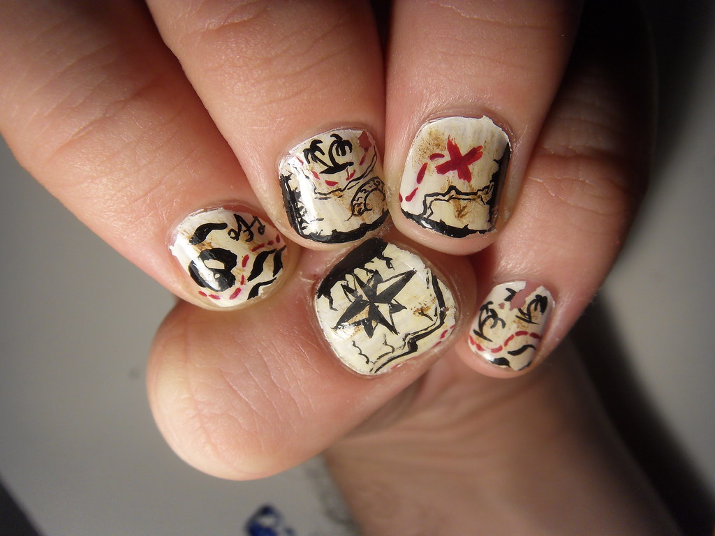 Here be treasure nail art | Check out Buzz Buzz on facebook,… | Flickr