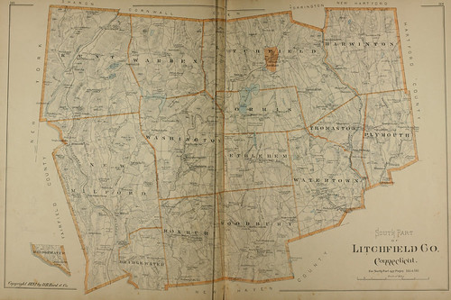 Page 214 & 215 of Town and city atlas of the State of Connecticut. / Compiled from government surveys, county records and personal investigations | by uconnlibrarymagic