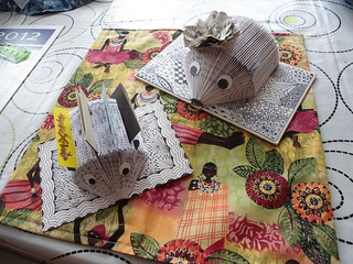 old books folded pages and zentangle | by country 16