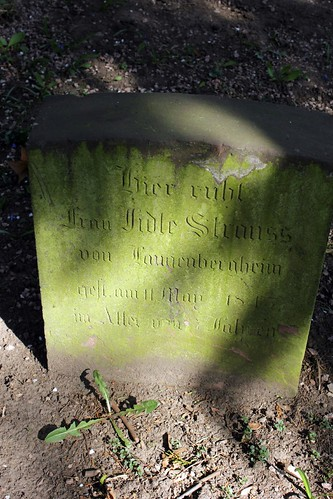 Grave of Fidle Strauss (?-1845) / From Langenberghein | by S. Ruehlow