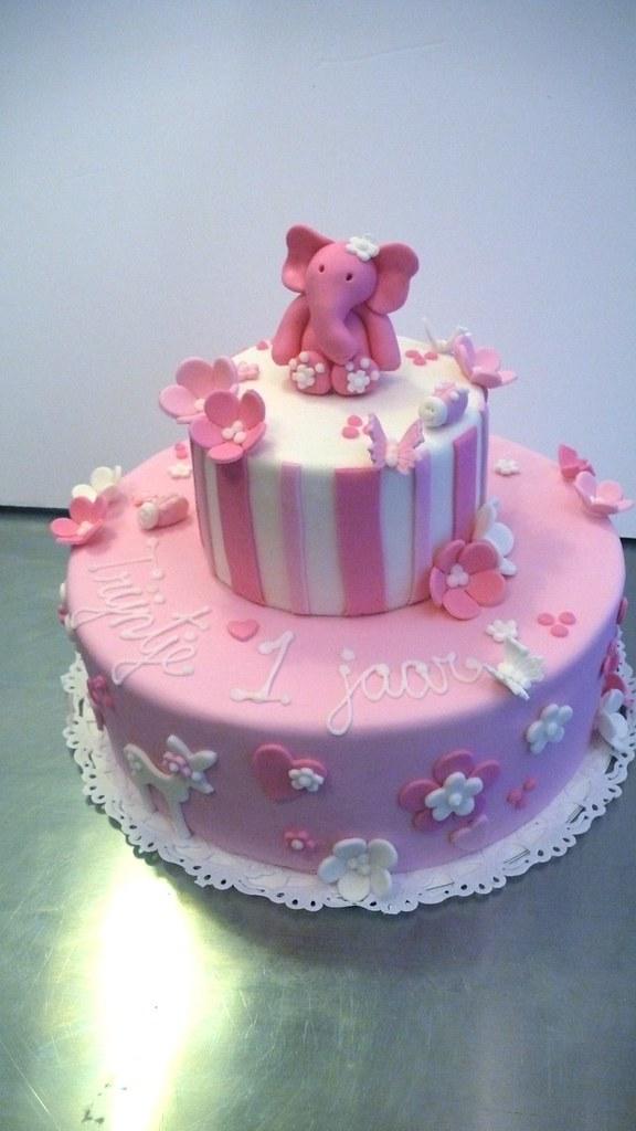 Little Girls 1st Birthday Cake Cakeamsterdam One Flickr