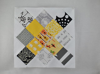 Black and Yellow Granny Square Quilt Block | by Lindsay Sews {@CraftBuds}