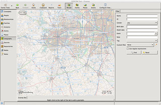 Mac OS X - Gramps Genealogy Software - Maps | by genealogysoftware