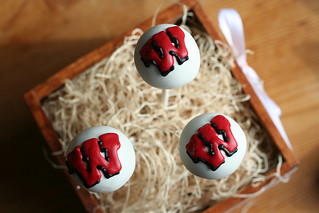 University of Wisconsin Cake Pops | by Sweet Lauren Cakes
