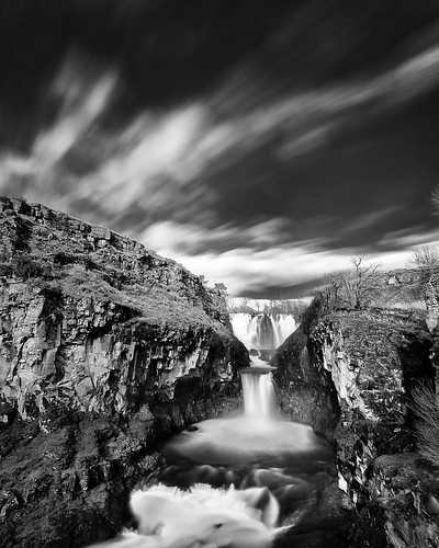White River Falls, monochrome, plate 2 | by Desert Sun Images