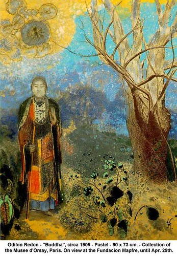 "Odilon Redon - ""Buddha"", circa 1905 
