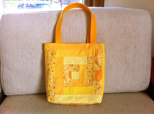 Bright Furrows patchwork tote | by susanstars
