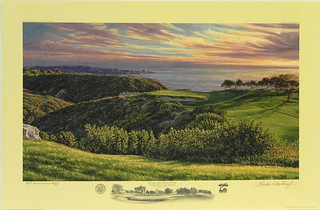 The 3rd Hole, South Course, Torrey Pines Golf Course, San Diego, CA by Linda Hartough at Smith Galleries | by Smith Galleries