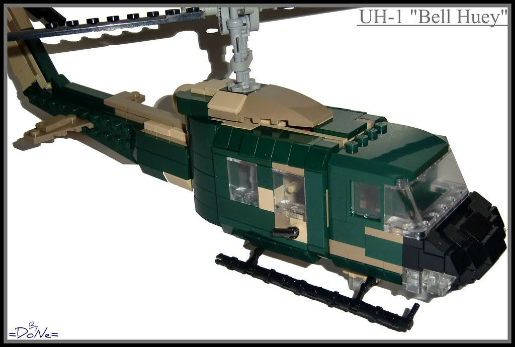 """Lego UH-1 """"Bell Huey""""   My second try at a Helli! And well, …   Flickr"""