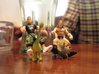 John Cena and Triple H on Dinosaurs | by Littlelixie