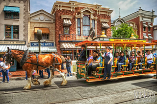 a day at disneyland #3 : horse-driven tram | by Kris Kros