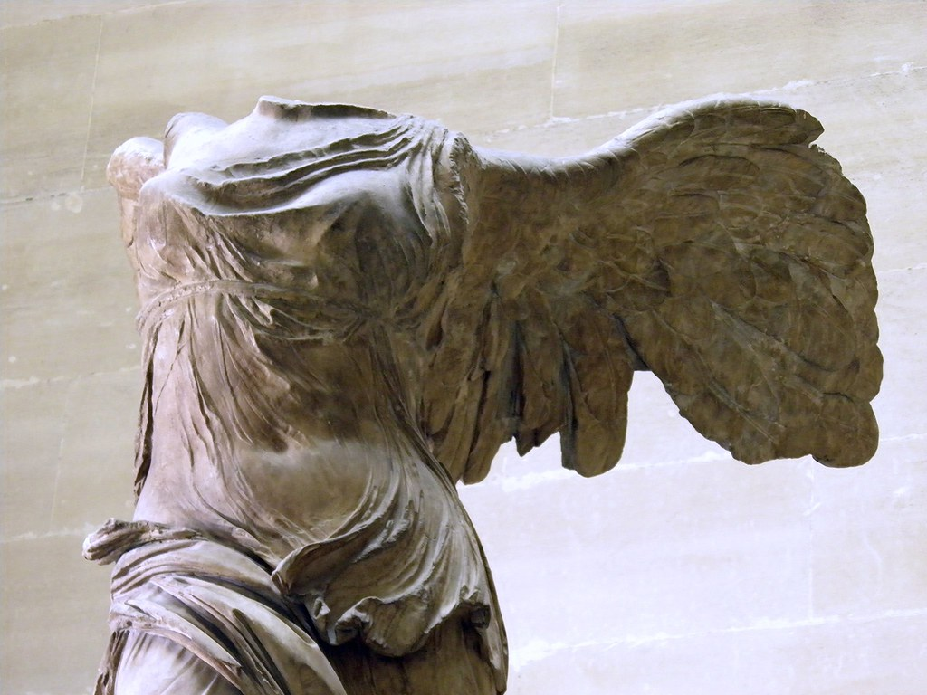 the winged victory of samothrace louvre museum c 190 bc flickr