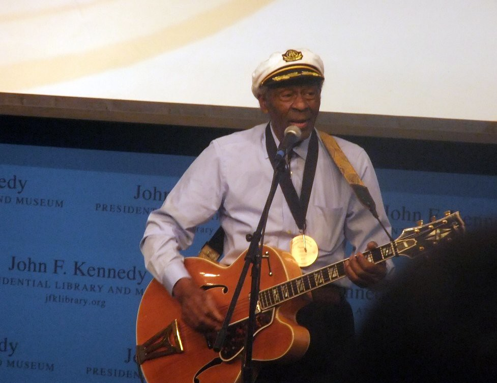 Chuck Berry/ Leonard Cohen-JFK Library Boston, Mass.-Feb. 26, 2012