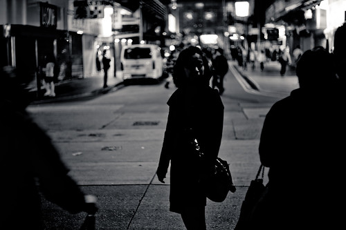 Woman alone at night | by wilsonchong888