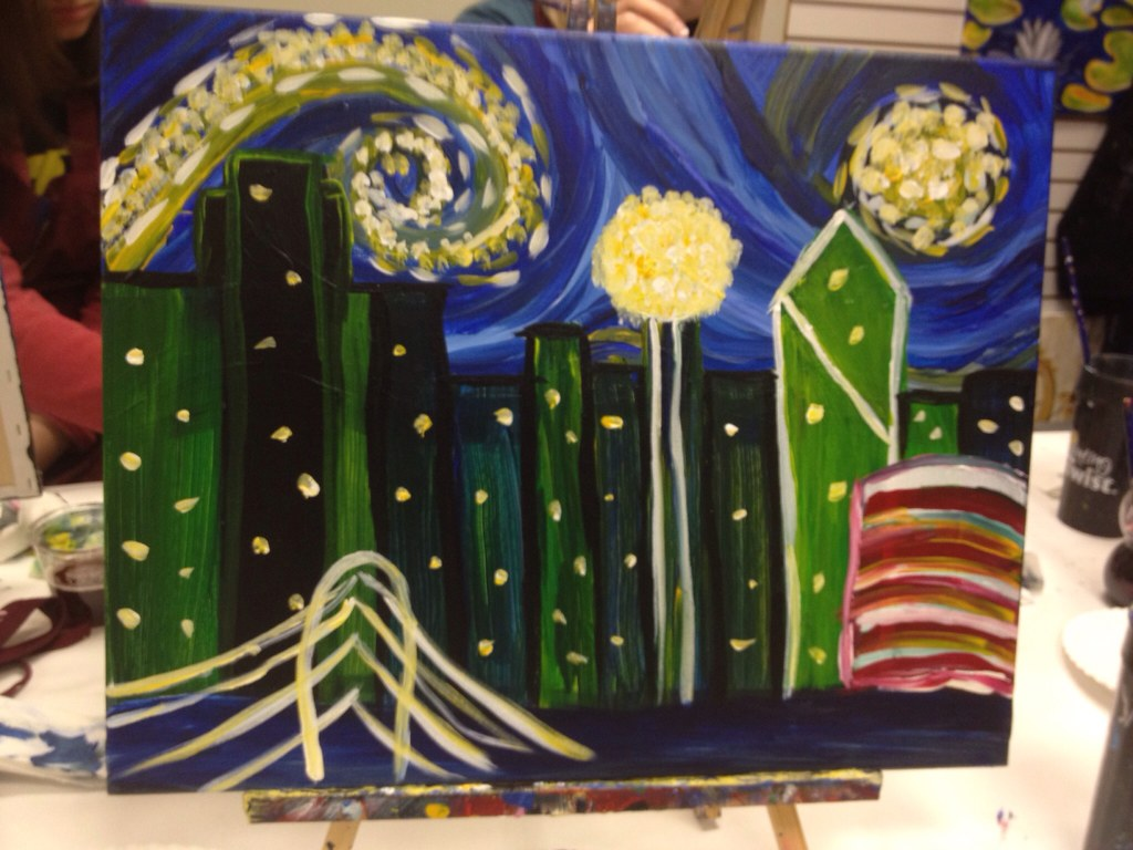 Starry Night Dallas Painting With A Twist Flower Mound