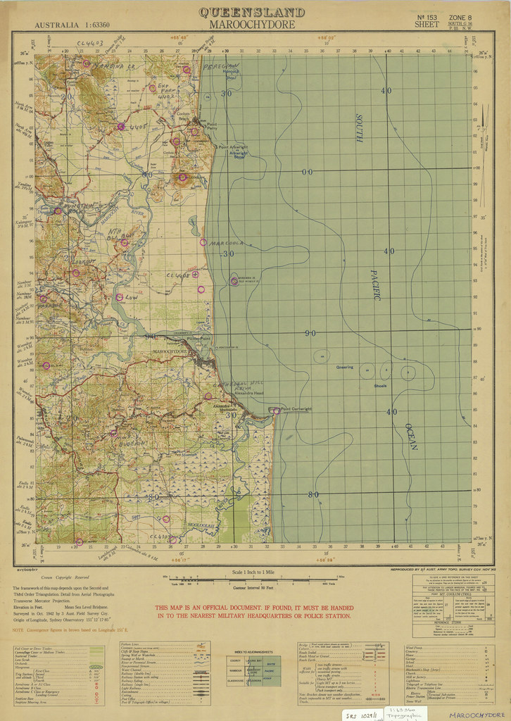 Queensland scale 163 360 military map Maroochydore Oct Flickr