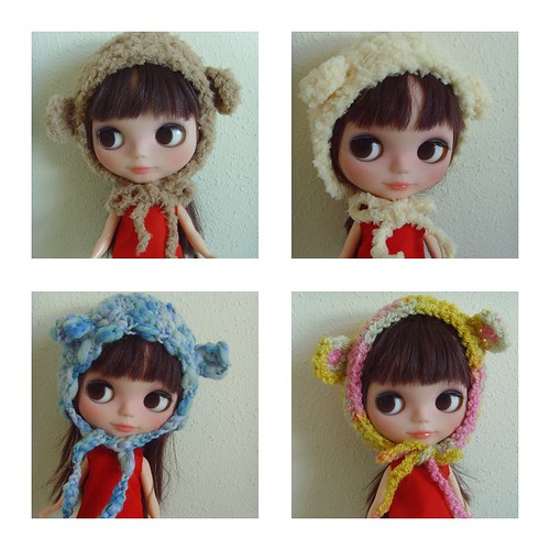 Bear hats for Blythe  FA   New!! | by Mitilene - Dolls are good!