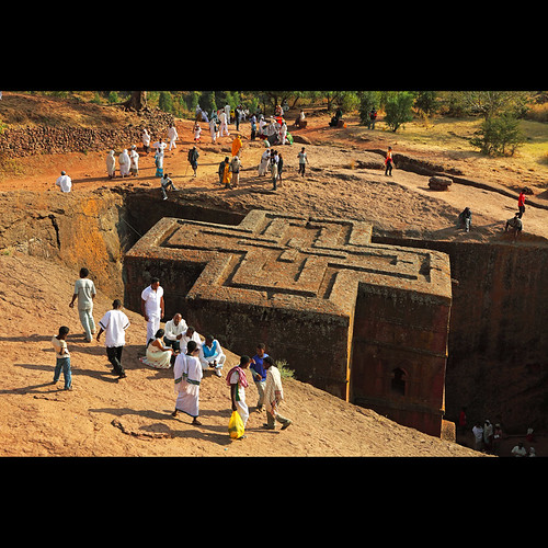 Ancient Carved Rock Shrine At Lalibela ETHIOPIA | by andyyleung