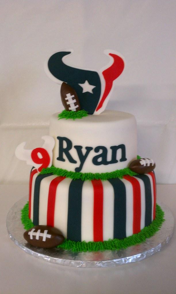 Texans Football Birthday Cake Clarissa Lopez Flickr