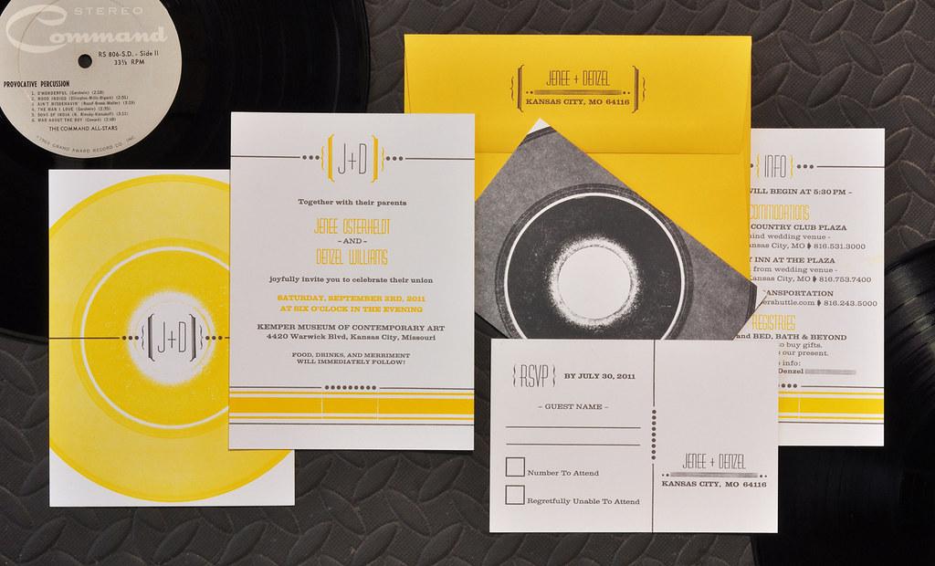 Vinyl Record Letterpress Wedding Invitation | {custom} Vinyl… | Flickr