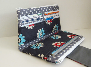 Card slots & checkbook pocket | by Stitchin Sista