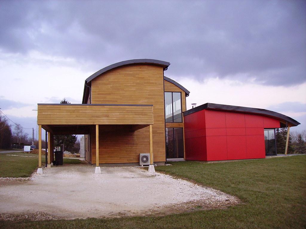 maison moderne en bois by jpc24m - Maison Moderne Bois