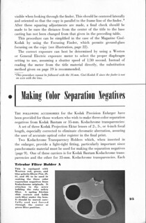 Kodak Precision Enlarger Manual Page 25 | by turbguy - pro