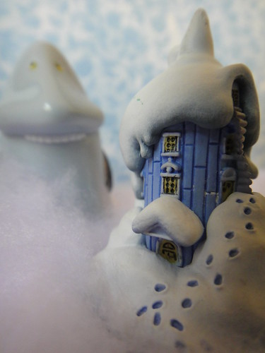 Because the Groke brought more cold and snow to the Moomin House | by Kewty-pie