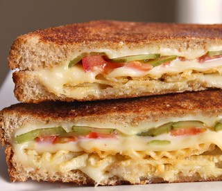 Grilled Cheese with Tomato, Pickles and Potato Chips | by Carolyn McCaffrey Stalnaker