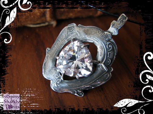 Pendant Silver White CZ Trilliant 02 | by Spiny Sharkly Things