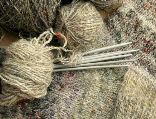 hand spun random yarn and the first sock | by paulhenry7499