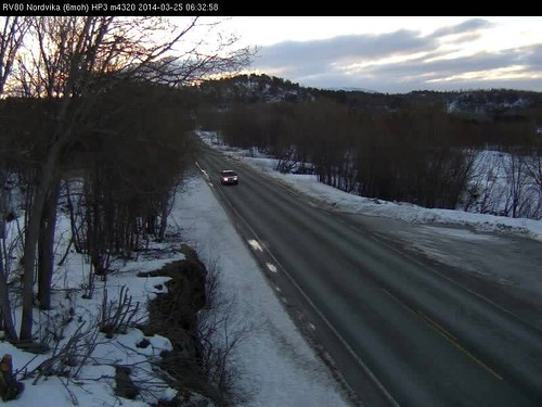 Norwegian road webcams - 25 March 2014