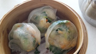 Bok Choy and Chicken Dumplings from Easy House Vegetarian