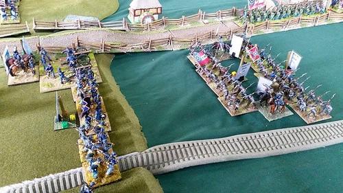 Chaaaargee!  Davis' Brigade assault Macpherson's  Ridge
