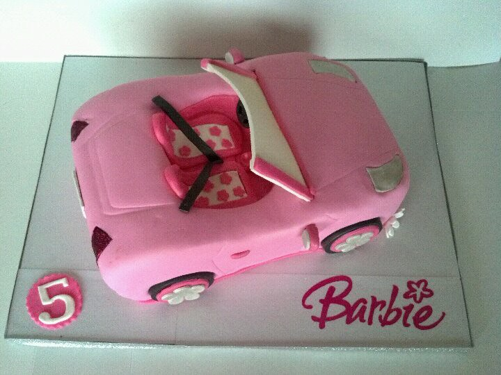 Barbie Car Cake Barbie Convertible Cake Made To Match The Flickr
