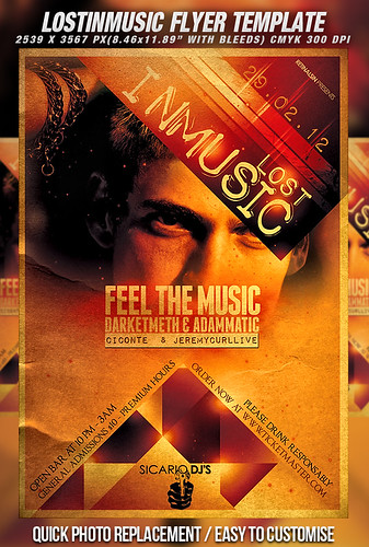 PSD Lost In Music Flyer Template | by mexelina