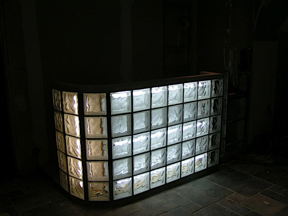 bar en carreaux de verre