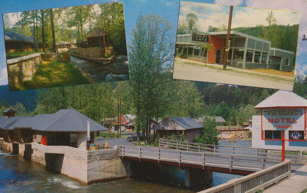 Twin Island Motel and Ogles Cafe - Gatlinburg, Tennessee