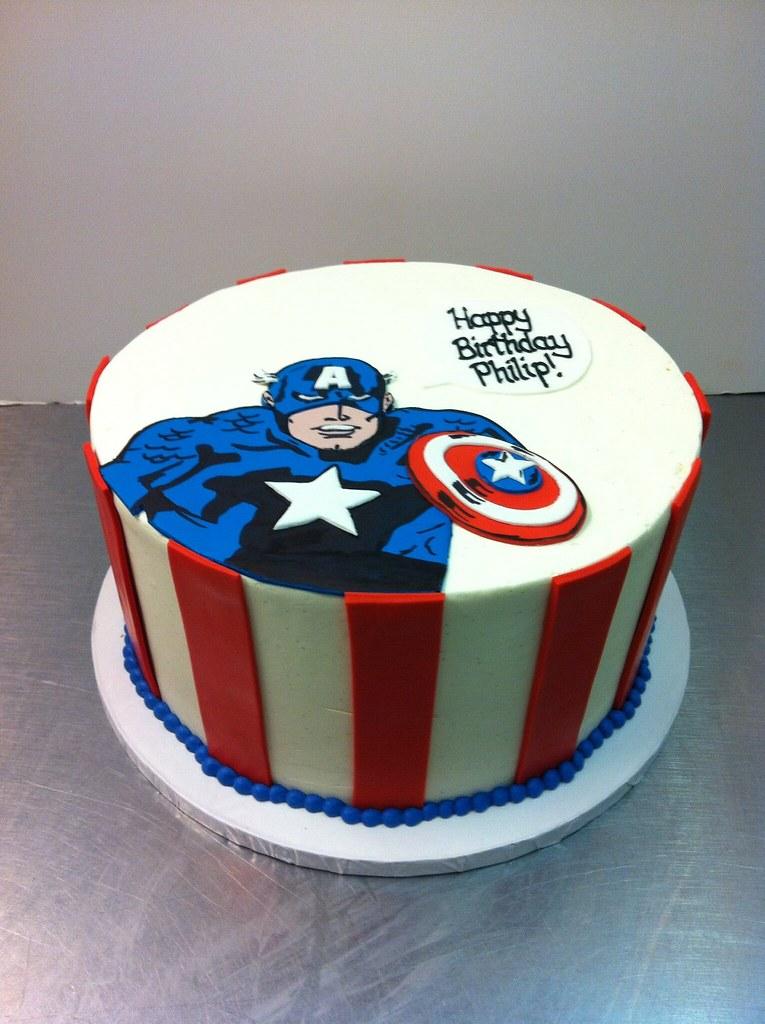 Captain America Birthday Cake Polkadots Olga Flickr