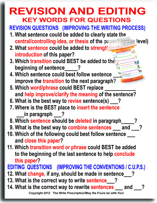 Revising Editing Classroom Poster Do your kids feel over – Revise and Edit Worksheets