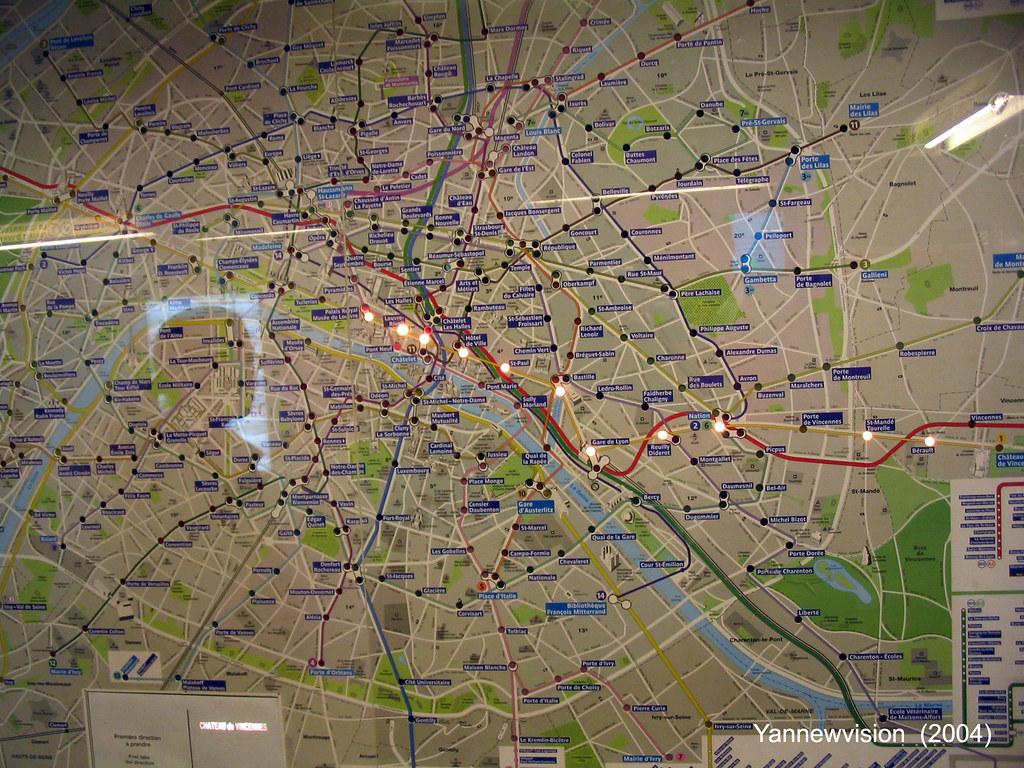 Carte metro parisien itineraire my blog - Paris gare de lyon porte de versailles ...